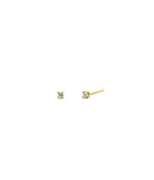 SOLITAIRE 2mm gold errings