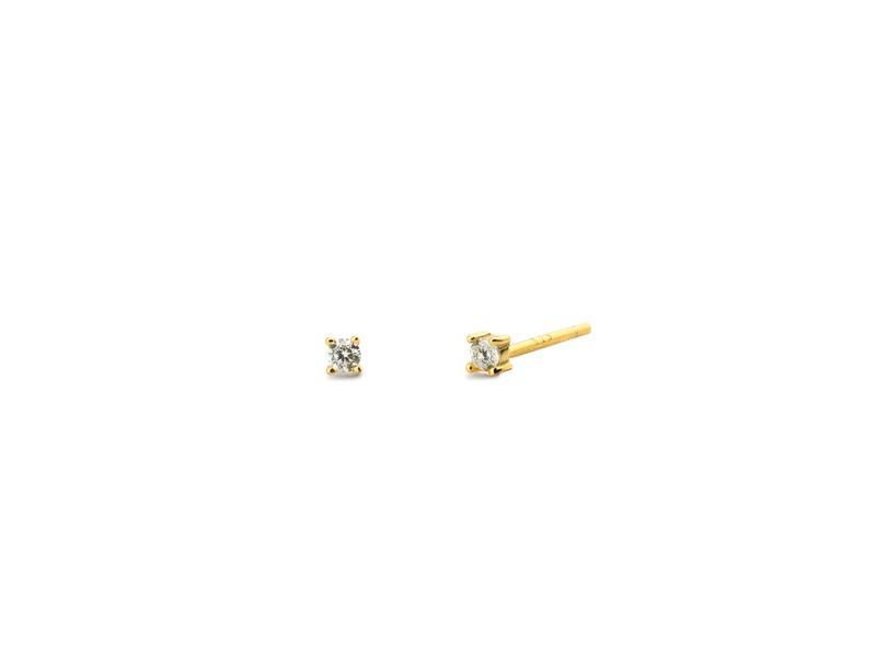 Boucles d'oreilles SOLITAIRE 2mm or