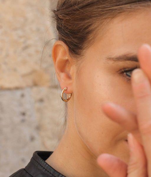 Boucles d'oreilles KNOTS or