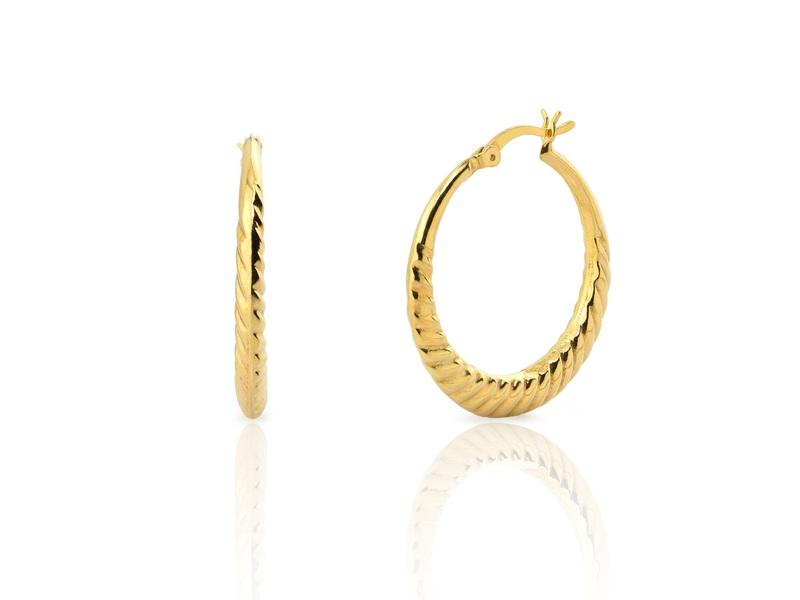 BAMBU gold earrings