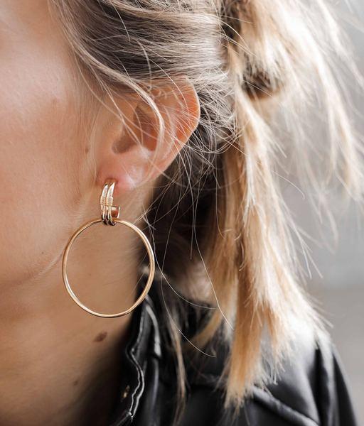 Boucles d'oreilles GRUNGE or