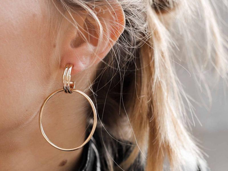 GRUNGE gold earrings