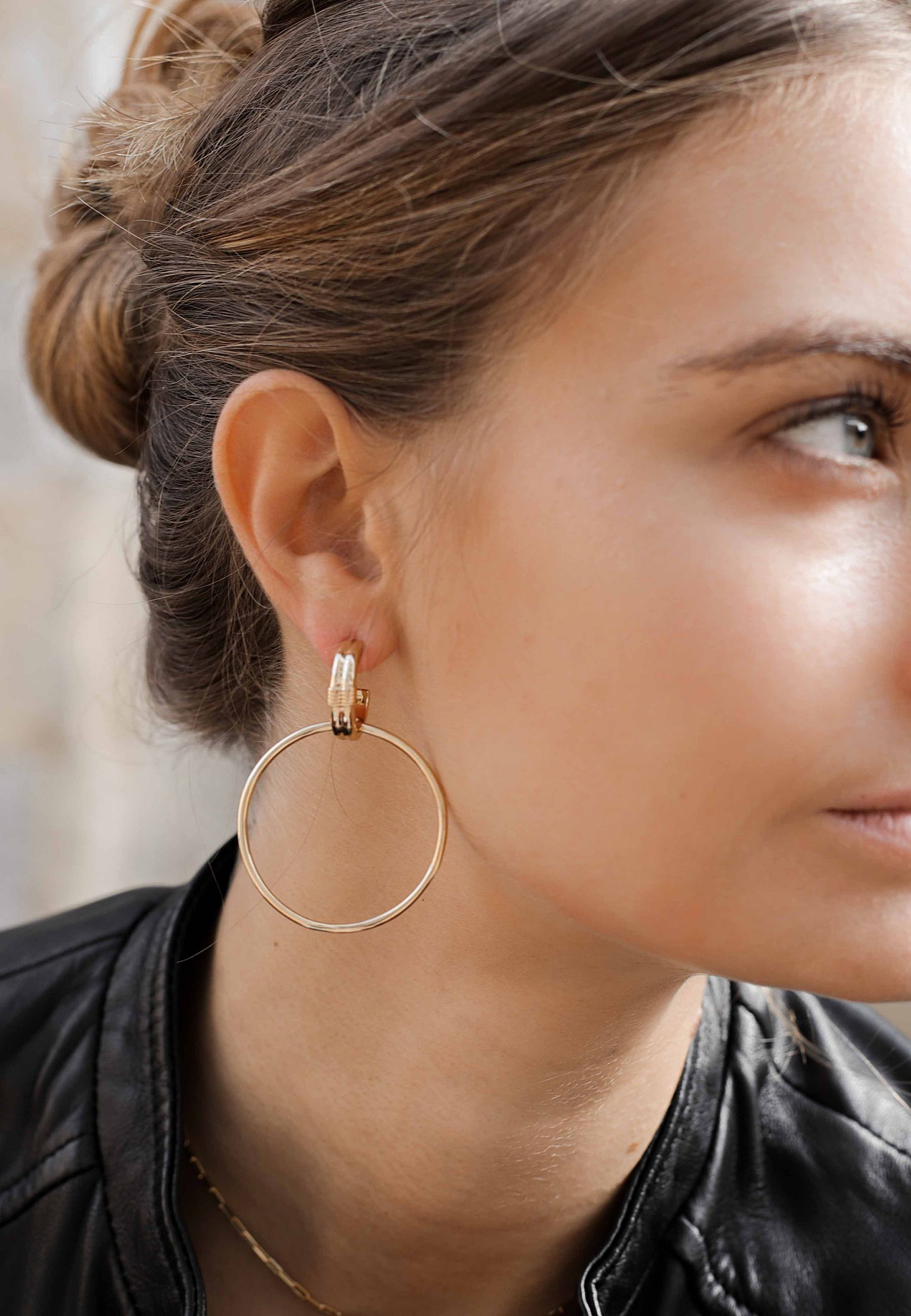 GRUNGE gold earrings