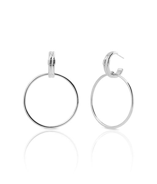 GRUNGE silver earrings