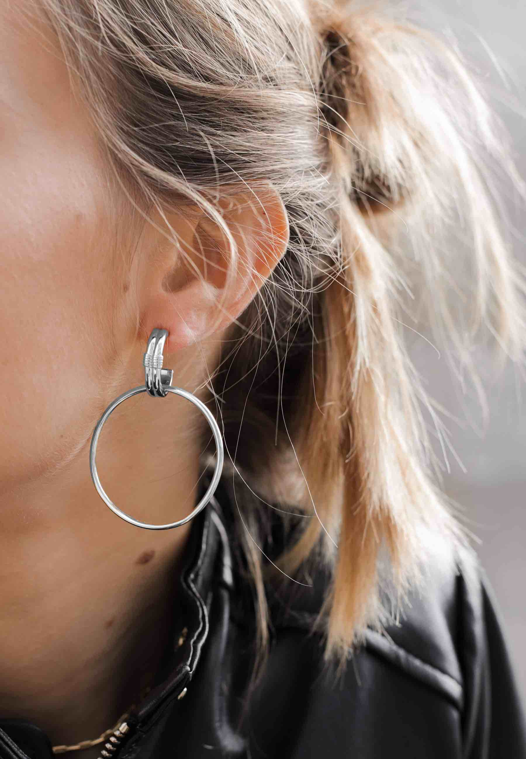 GRUNGE silver earrings