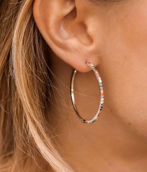 UMA gold hoop earrings