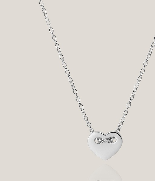 SWEET HEART silver necklace