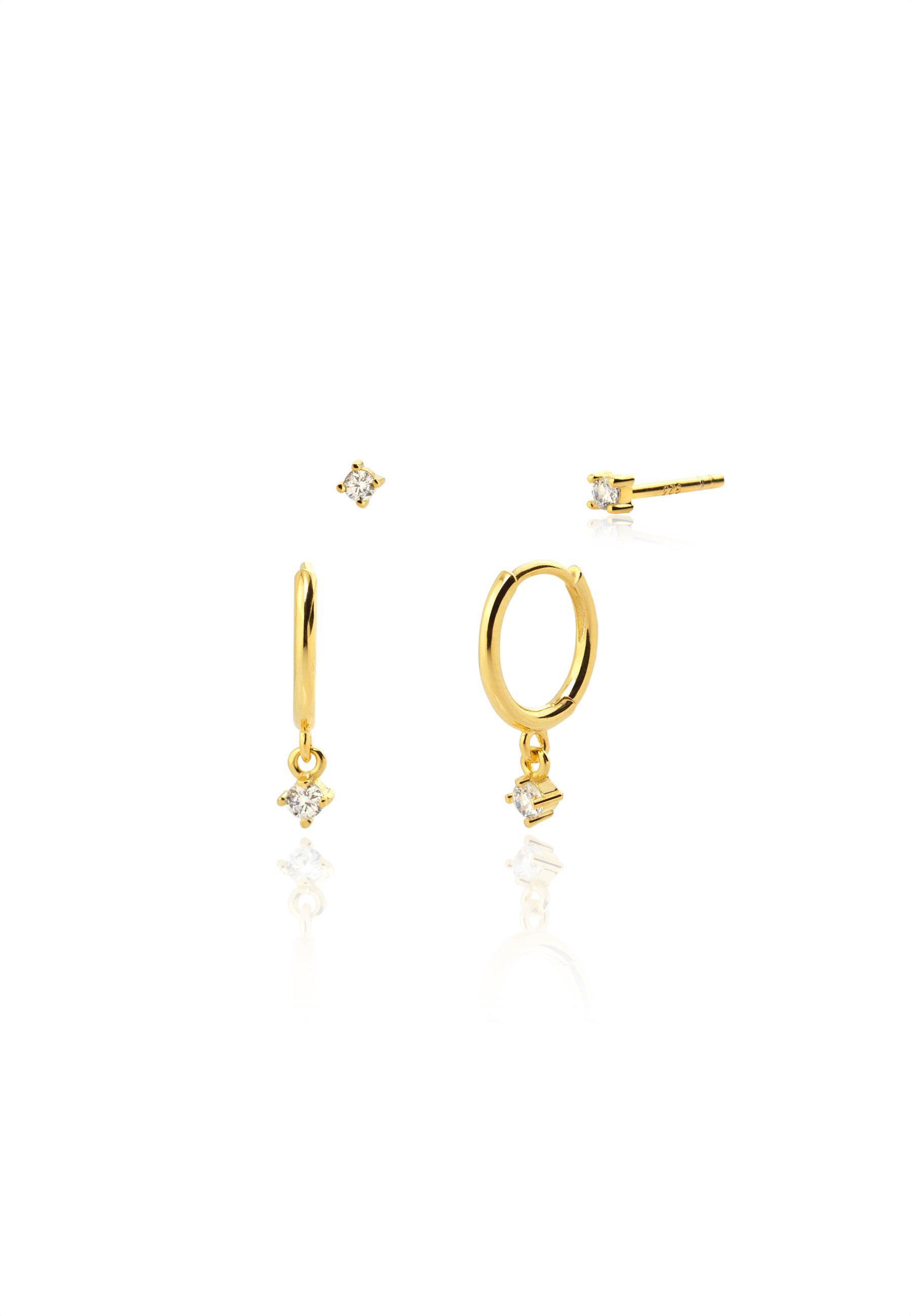 Pendientes diamond oro za