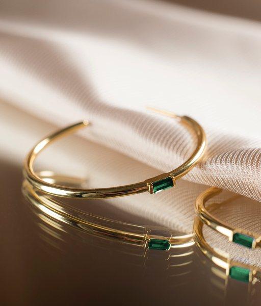 ESMERALDA gold hoops earrings