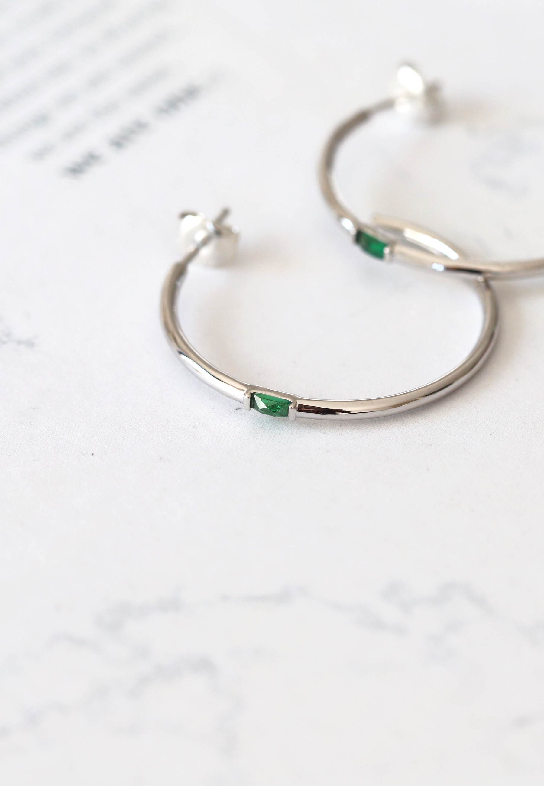 ESMERALDA Silver hoops earrings