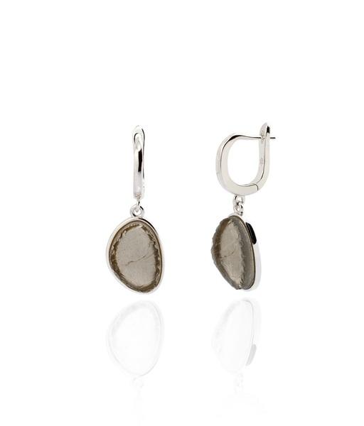 SMOKY silver earrings