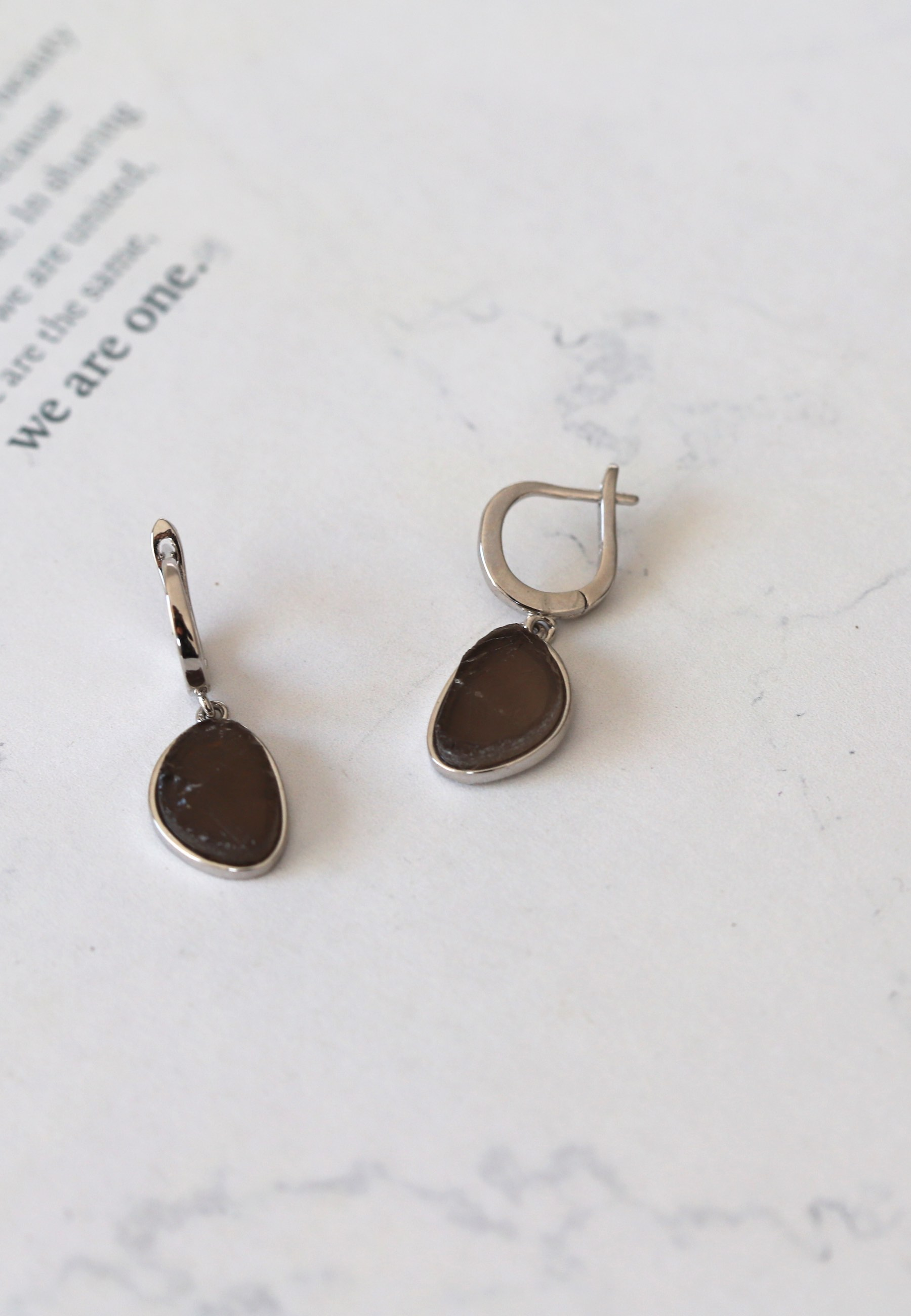 SMOKY silver earrings