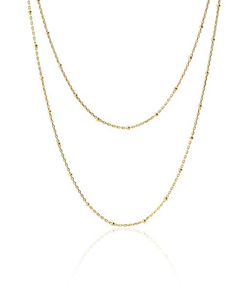 LONG BALLS gold necklace