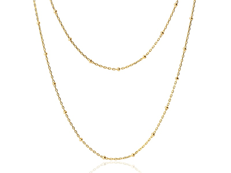LONG BALLS gold necklace