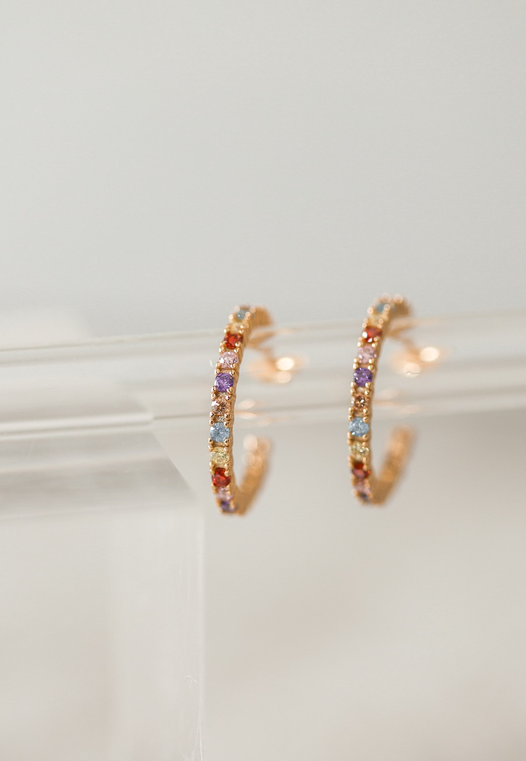 FESTIVAL gold hoop earrings