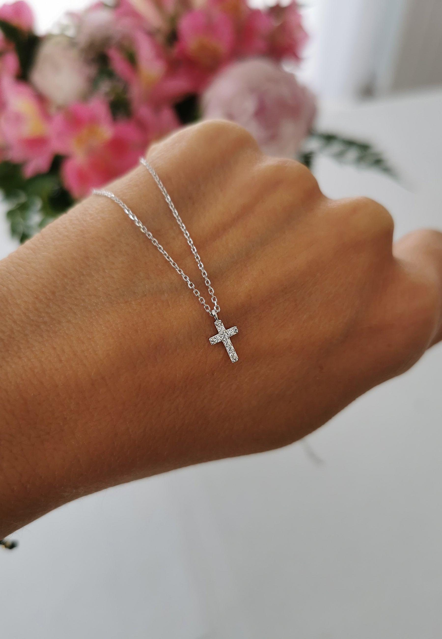 Mini cruz plata