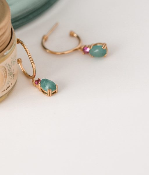 MINA gold earrings