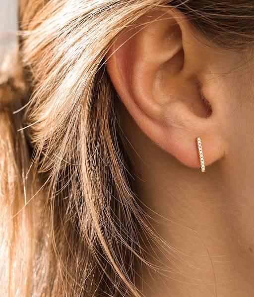 BARRITA CZ gold earrings