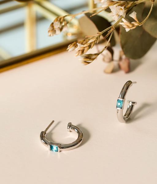 OASIS silver earrings