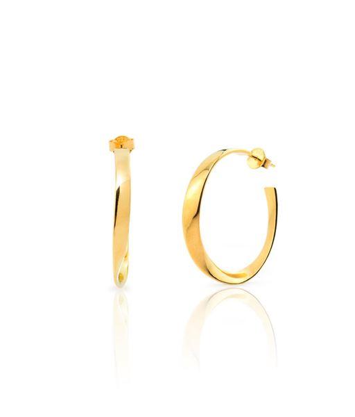 CURLED gold hoop earrings