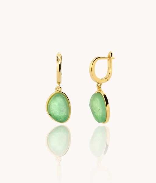 SOLEIL gold hoops earrings
