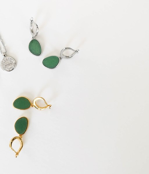 SOLEIL silver hoops earrings