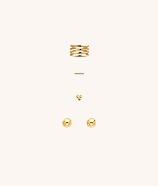 SET gold earrings