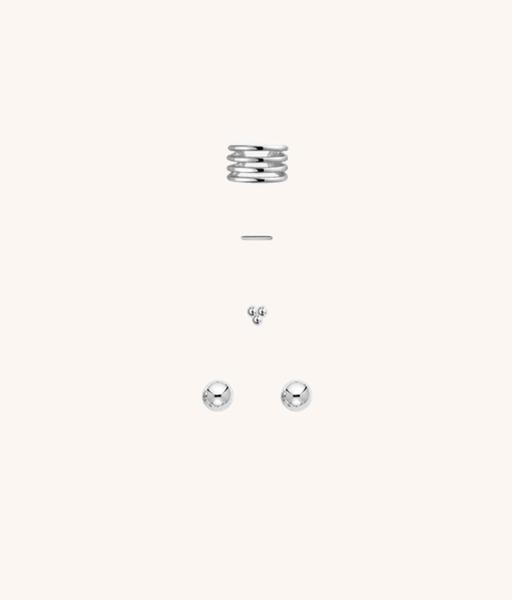 SET silver earrings
