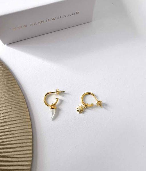 CUERNO SOL gold earrings