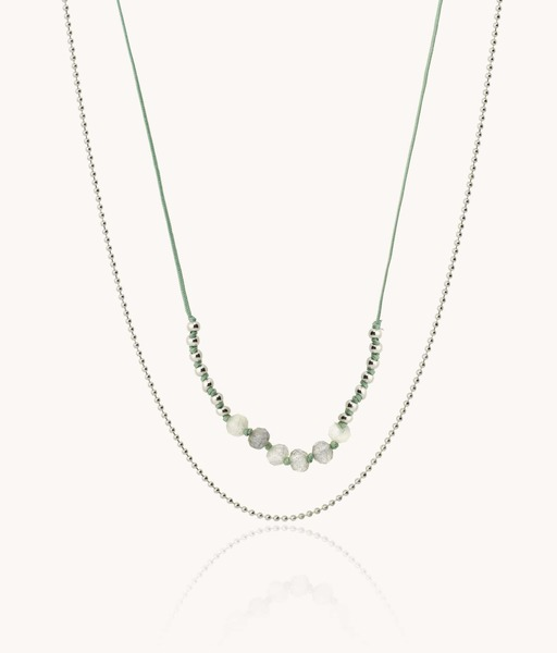 HILO necklace in green gold tone