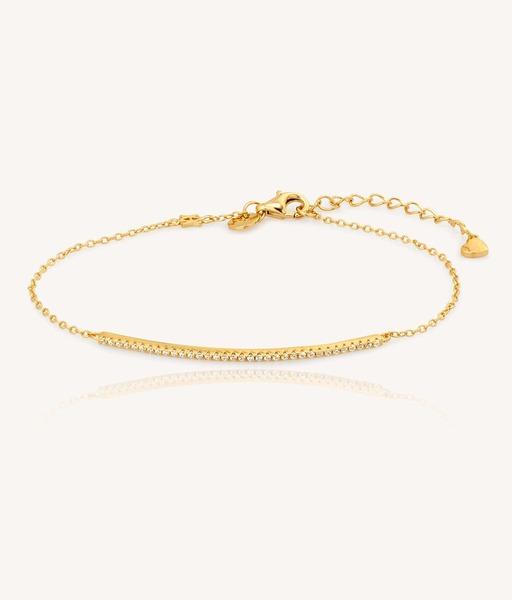 LINE CZ gold bracelet