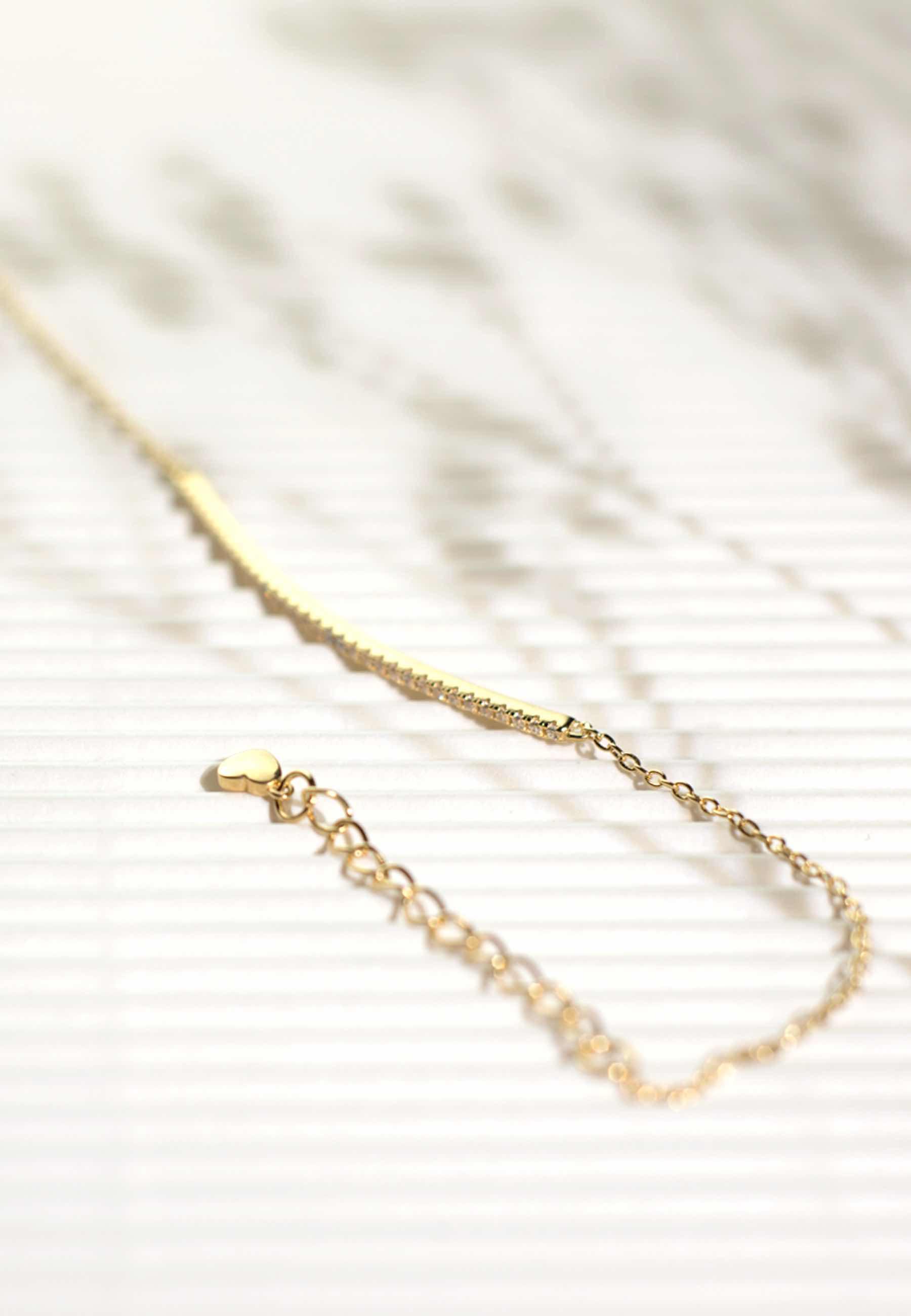 Pendientes barra cz oro 03