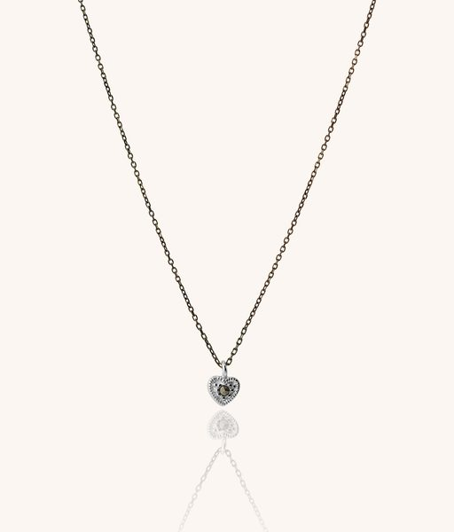 MARCASITE heart 925 silver necklace