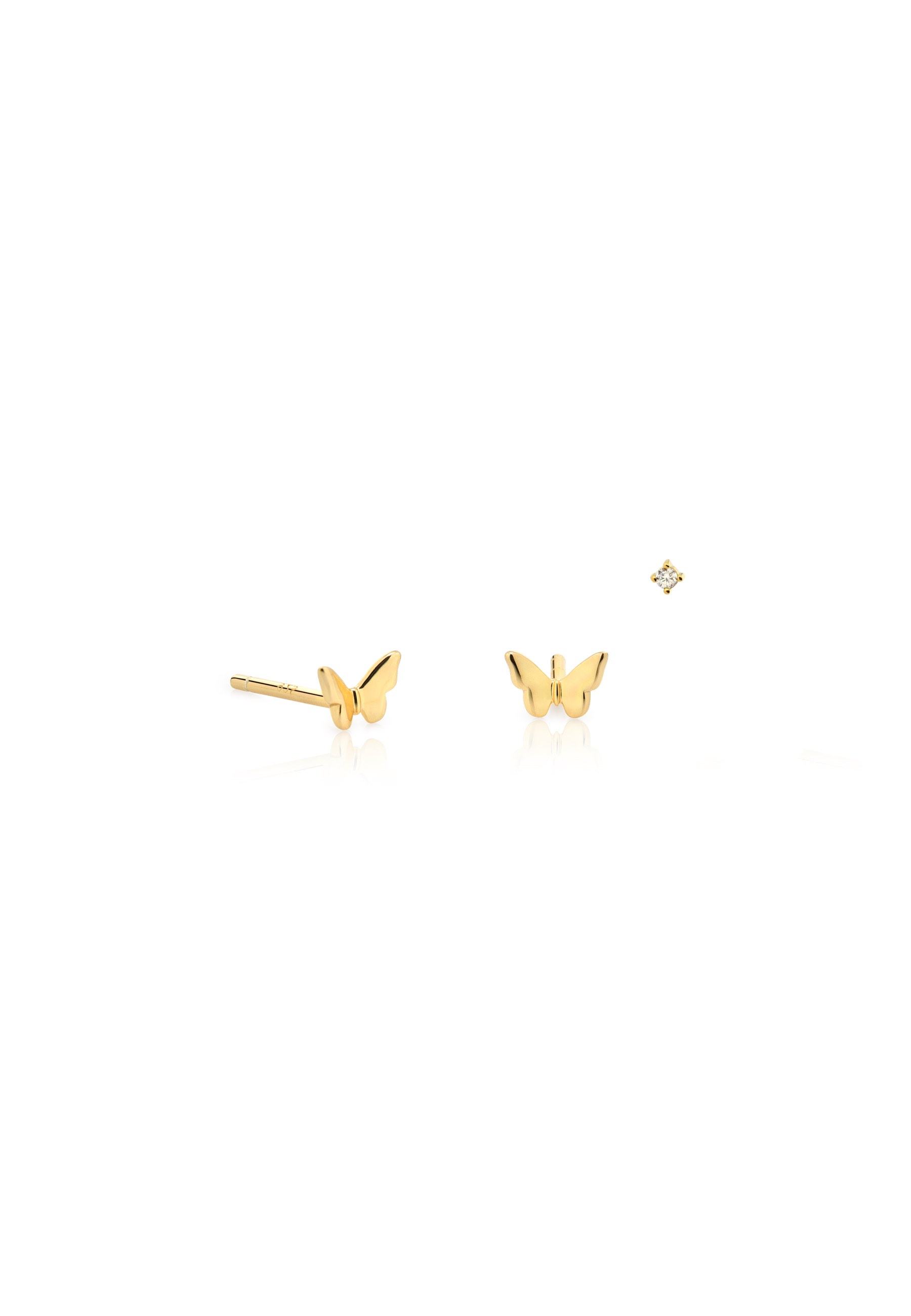 Pendientes stud butterfly oro 00
