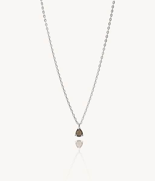 LAGRIMA smoke silver necklace