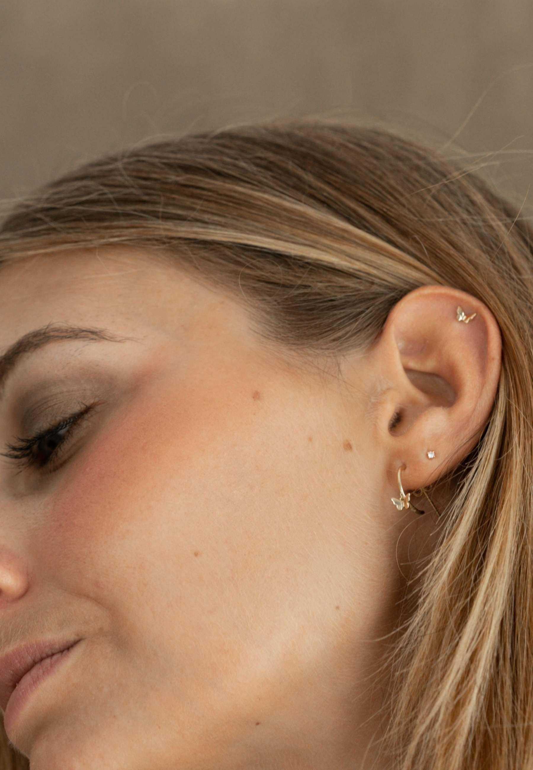 Butterfly set earrings gold