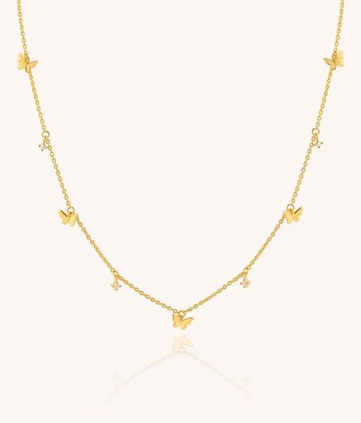 Collar CINCO MARIPOSAS oro