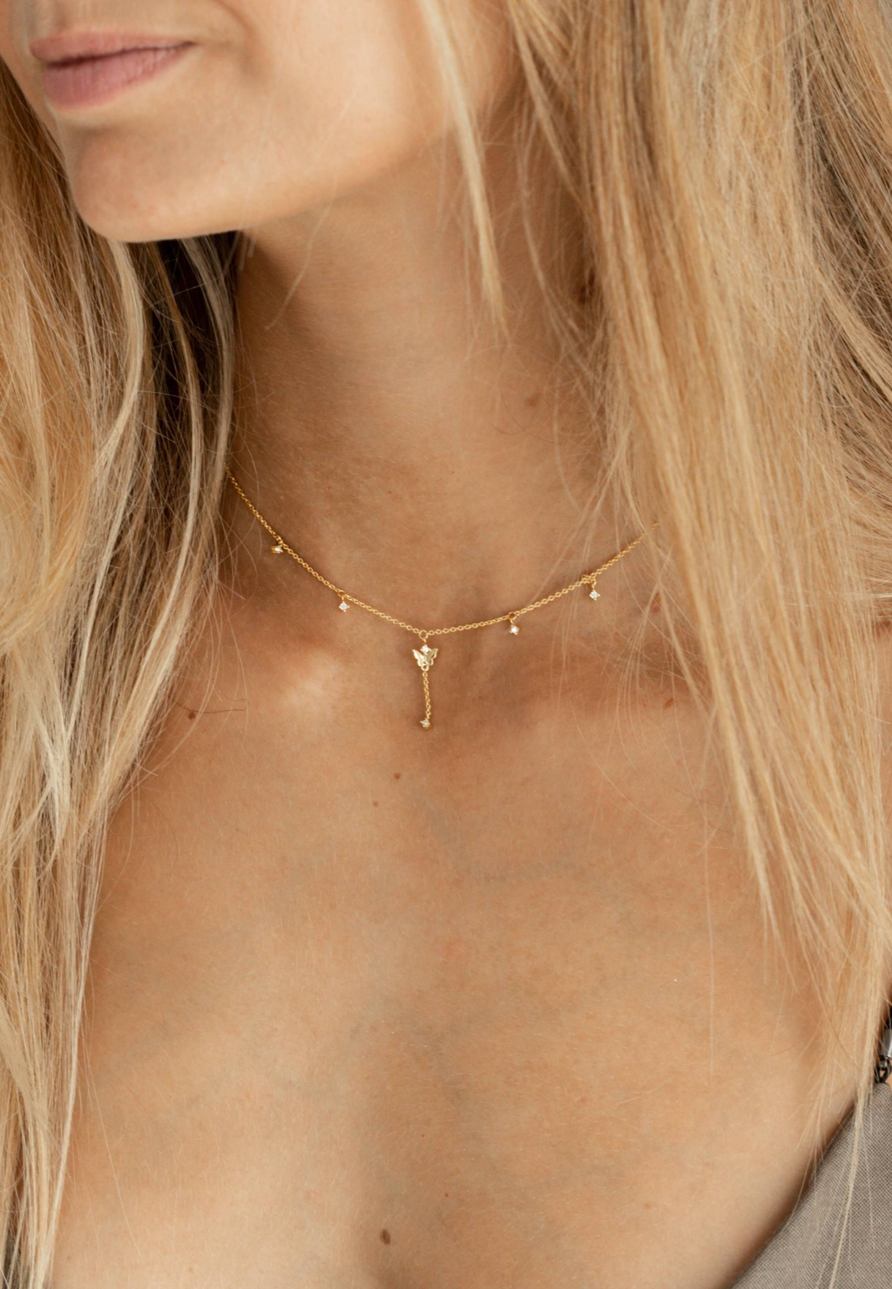 Collar LIFE MARIPOSA oro