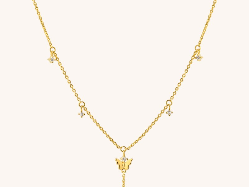 LIFE BUTTERFLY gold necklace