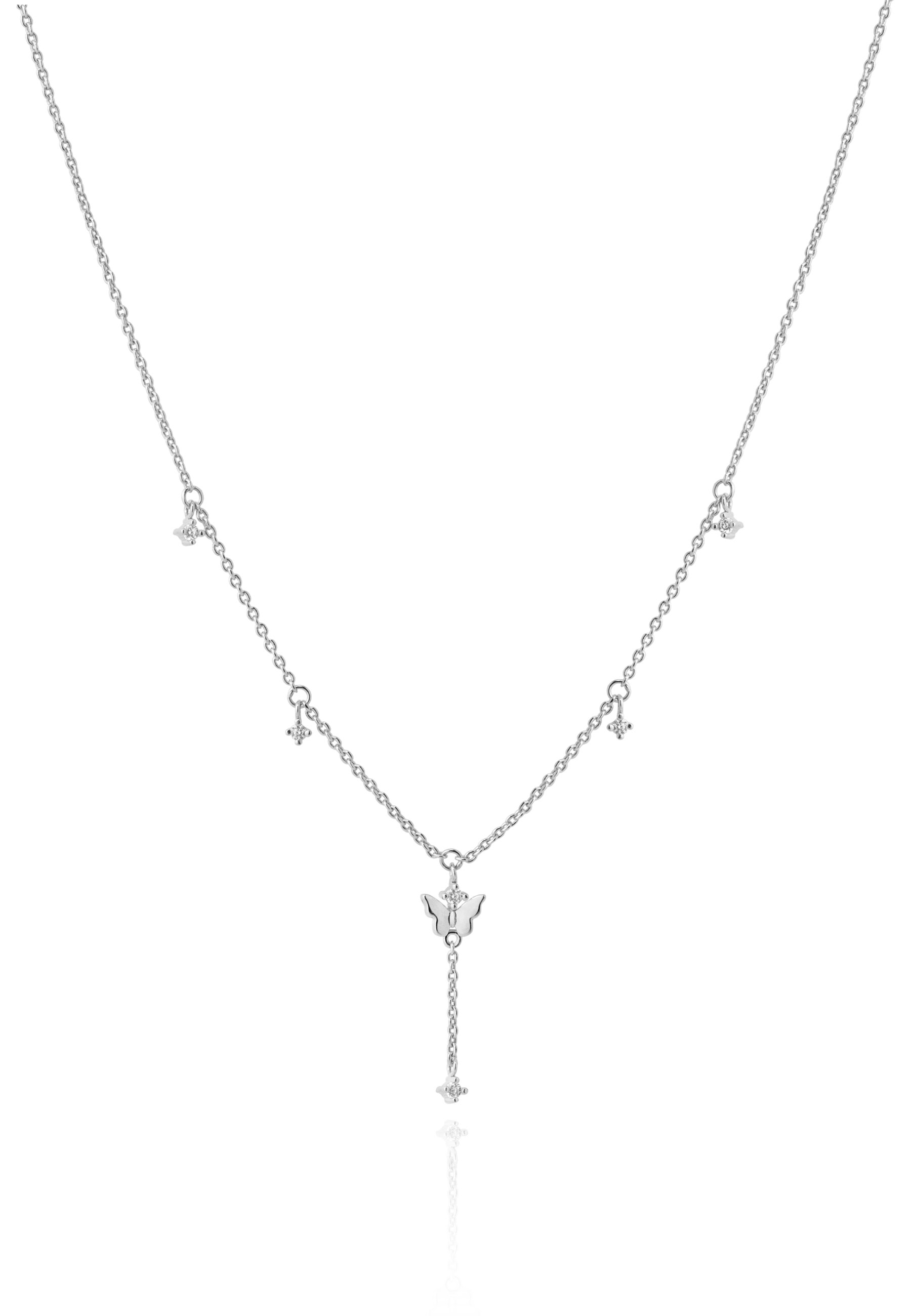 Collar life mariposa plata w
