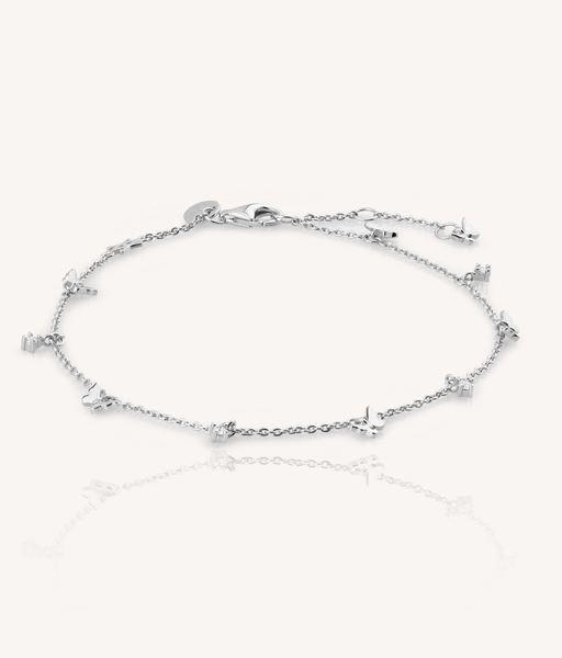 FIVE BUTTERFLIES silver bracelet